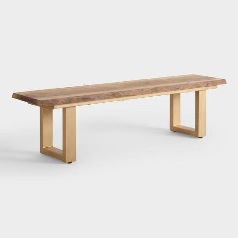 Live Edge Wood Sloan Dining Bench