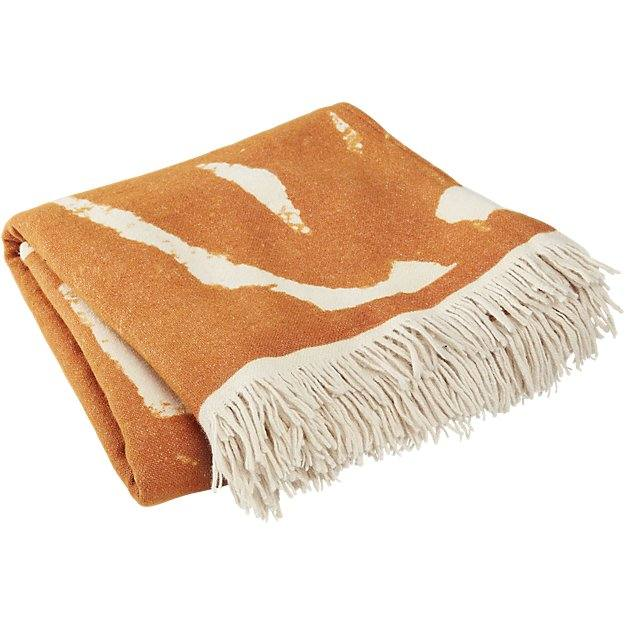 Succulent Sunprint Fringe Throw