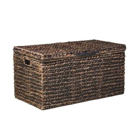 Brunhild Water Hyacinth Cocktail Trunk Table Brown - Aiden Lane
