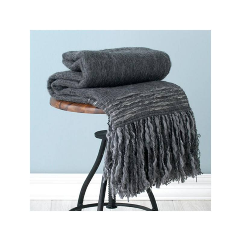 Sinclair Throw, Charcoal