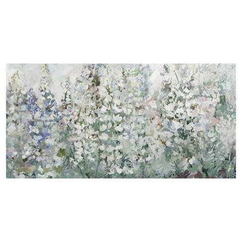"27""x54"" Belles Fleurs By Studio Arts Art On Canvas - Fine Art Canvas"