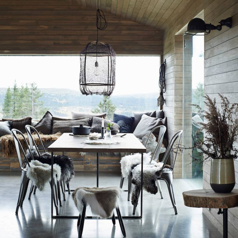 Modern Industrial farmhouse dining room
