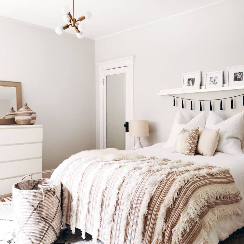 White Bohemian Romantic bedroom