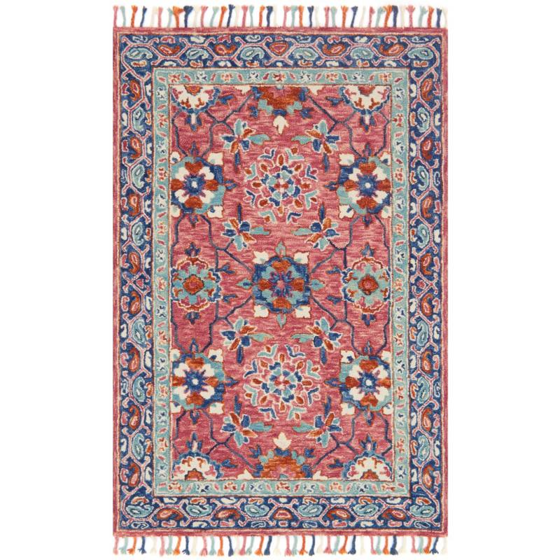 Olidia Rug, Pink and Blue