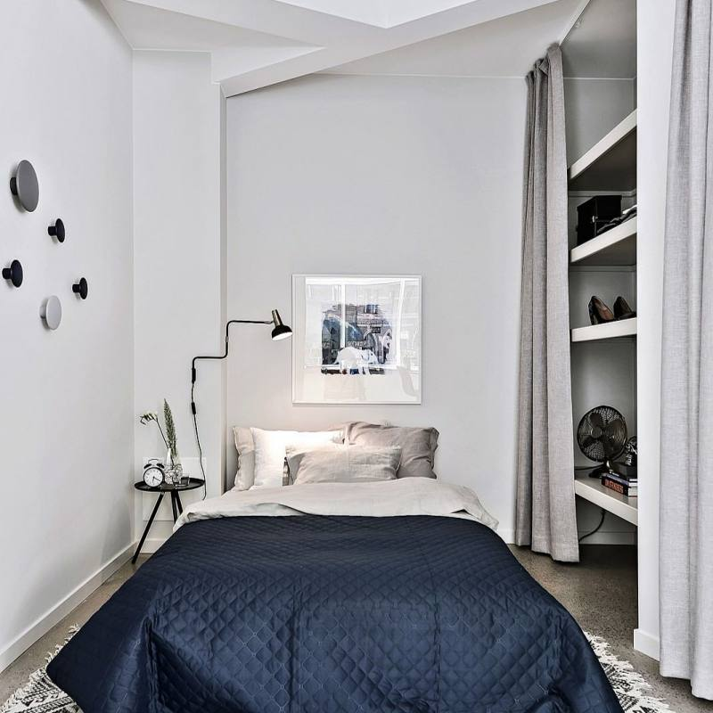 Small modern nordic bedroom
