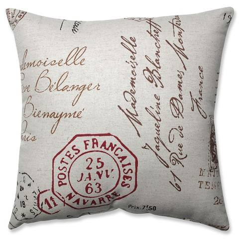 French Postale Throw Pillow Collection - Pillow Perfect