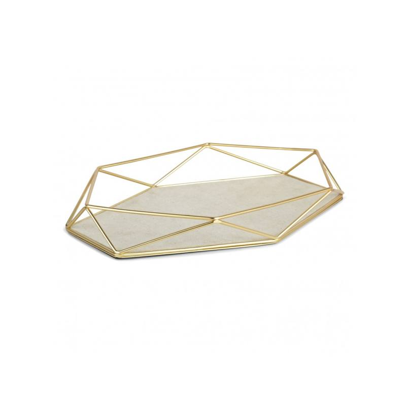 Raiden Jewelry Tray, Brass
