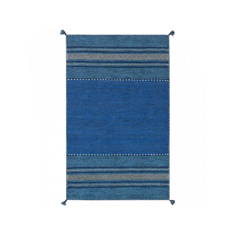 Bianca Rug, Ocean Blue and Ivory