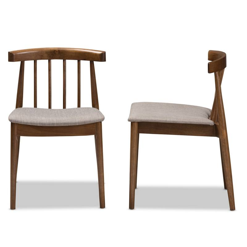 Alice Dining Chair, Walnut (Set of 2)