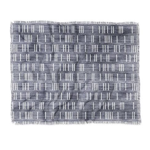 "60""X50"" Holli Zollinger Bogo Mudcloth Light Throw Blanket Blue - Deny Designs"