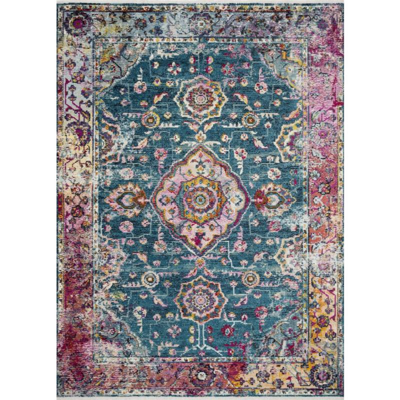 Justina Blakeney Silvia Rug, Teal and Berry