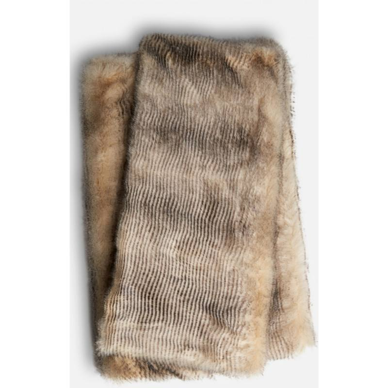 Blaire Faux Fur Throw, Natural