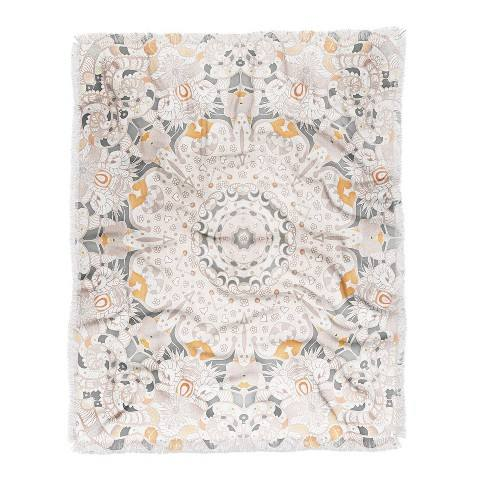 "60""X50"" Monika Strigel Boho Summer Throw Blanket White - Deny Designs"