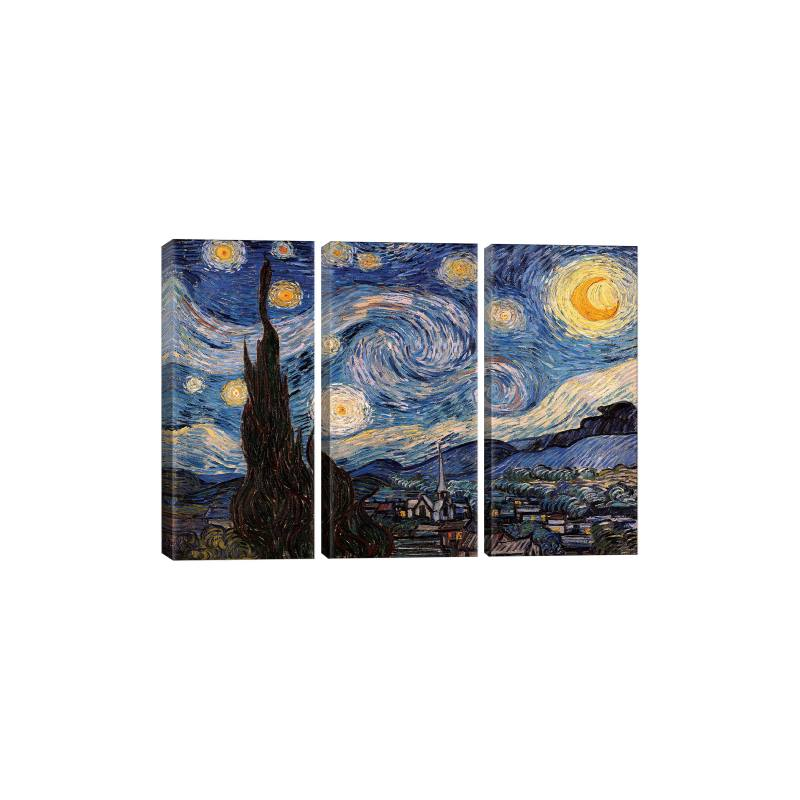 The Starry Night by Vincent Van Gogh Gicl�e Print Canvas Art