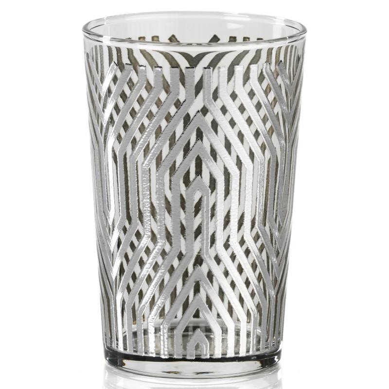 Set of 6 Metallic Geometric Pattern Tealight Candleholders