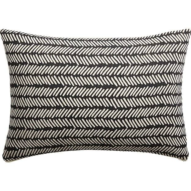 "18""X12"" Dash Black and White Pillow"