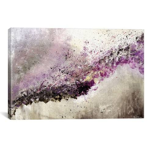 "26""x40"" Hush by Vinn Wong Unframed Wall Canvas Print Purple - iCanvas"