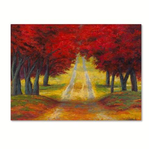"Trademark Fine Art 24"" x 18"" Daniel Moises 'Autumn Pathway' Canvas Art"