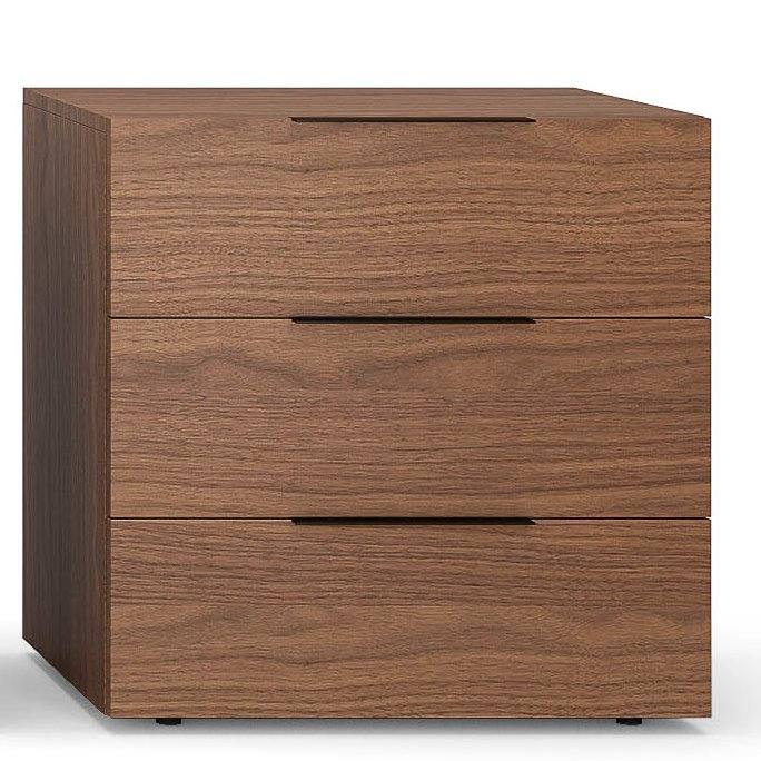 Spazio 3 Drawer Nightstand