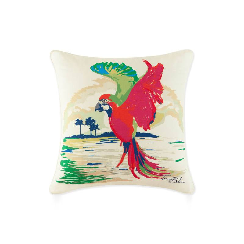 Painted Parrot Pillow