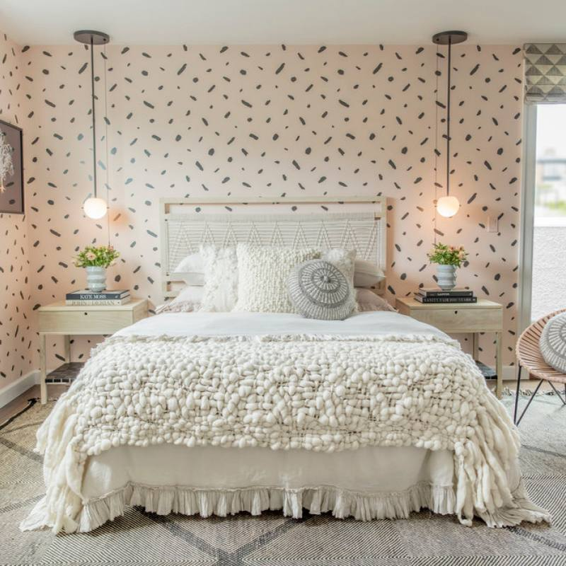 Get the look: White bohemian bedroom