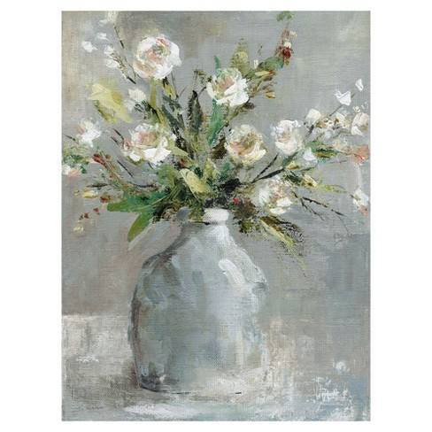 "30""x40"" Country Bouquet 1 By Carol Robinson Art On Canvas - Fine Art Canvas"