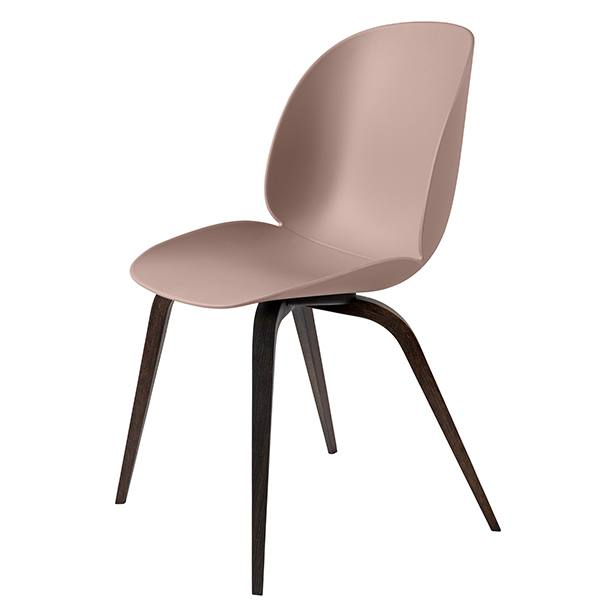 Gubi Beetle chair, smoked oak / sweet pink