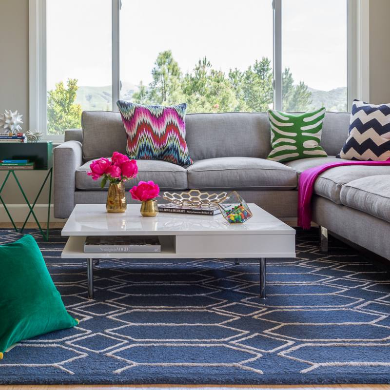 Colorful family room by kimberley harrison