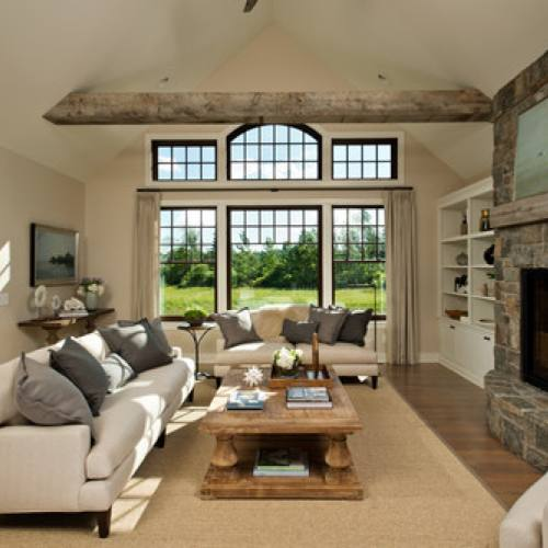 Farmhouse style rustic living room idea