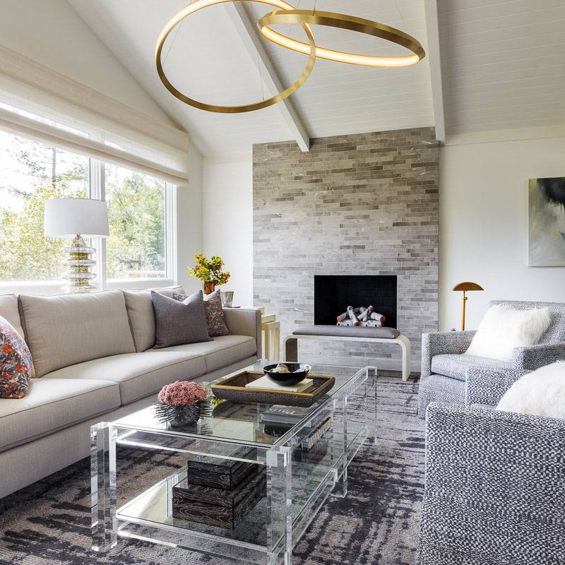 Modern eclectic living room by ann lowengart