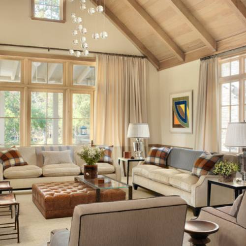 Country style formal living room idea