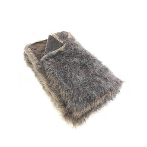 "60""x50"" Faux Fur Throw Blanket Brown - Threshold�"