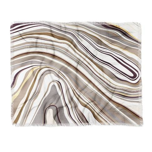 "60""X50"" Jacqueline Maldonado Throw Blanket Brown - Deny Designs"