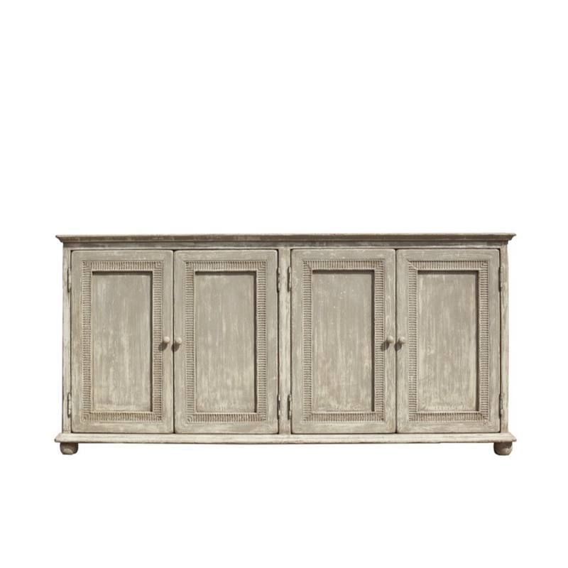 Pie Crust 4 Door Accent Cabinet