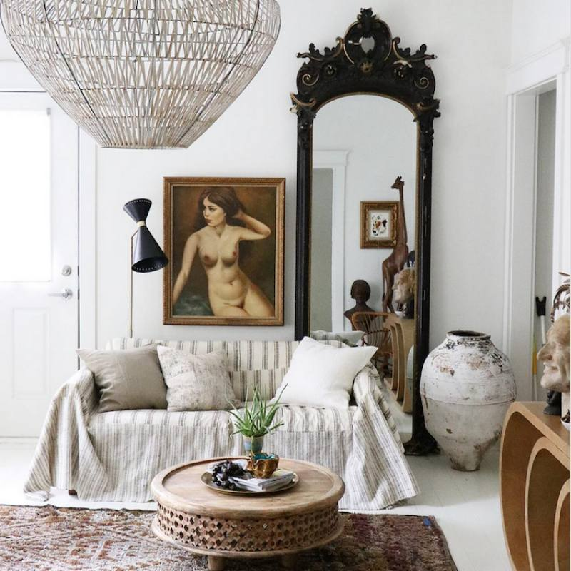 Bohemian casual living room by jennifer harrison