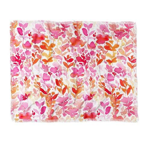 "60""X50"" Jacqueline Maldonado Flirt Throw Blanket Pink - Deny Designs"