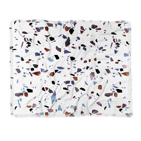 Emanuela Carratoni Autumnal Terrazzo Texture Woven Throw Blanket White - Deny Designs