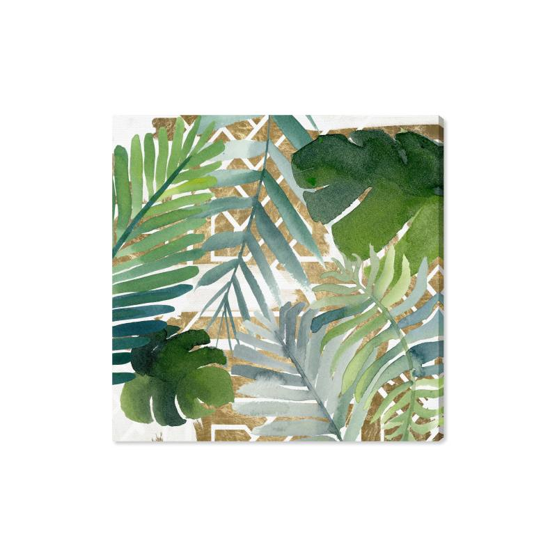 Introspect Palm Leaves Canvas Wall Art