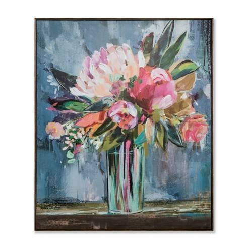 "36""x30"" Floral Still Life Framed Wall Canvas - Opalhouse�"
