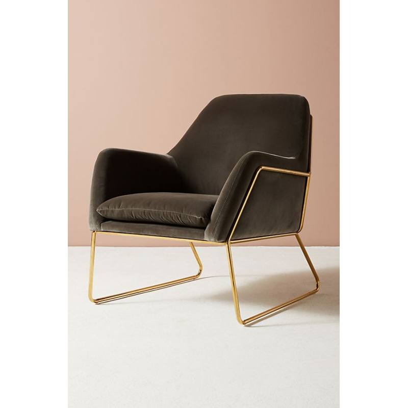 Velvet Everley Chair