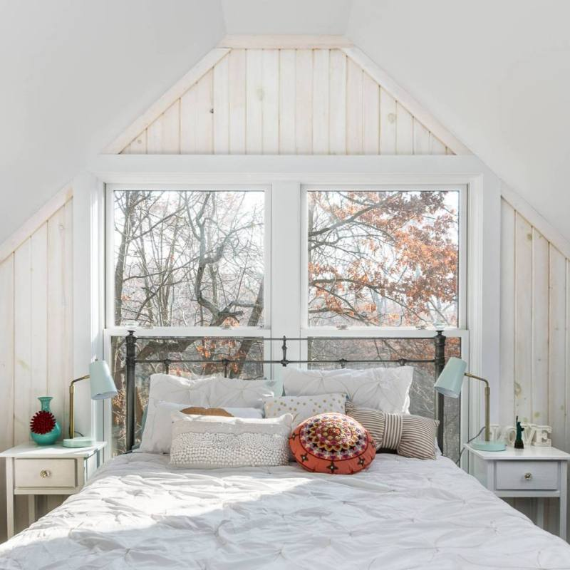Simple bright country bedroom