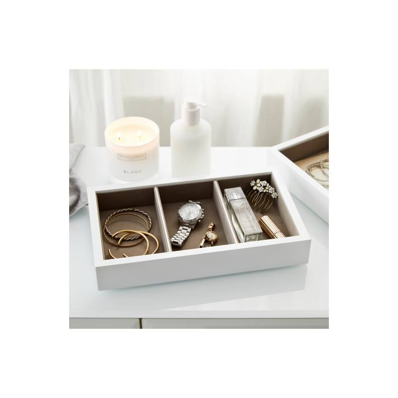 White Lacquer Compartment Tray