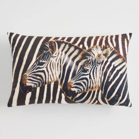 Two Zebra Print Lumbar Pillow
