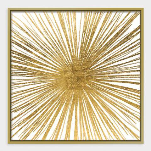 Golden Ray Wall Art in Gold Frame