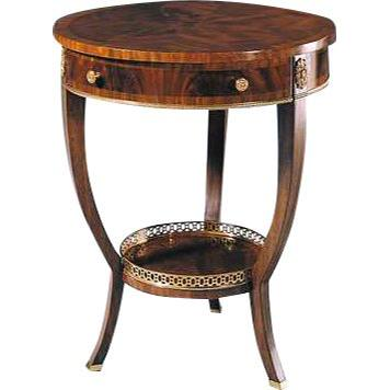 Crotch Georgian End Table with Storage