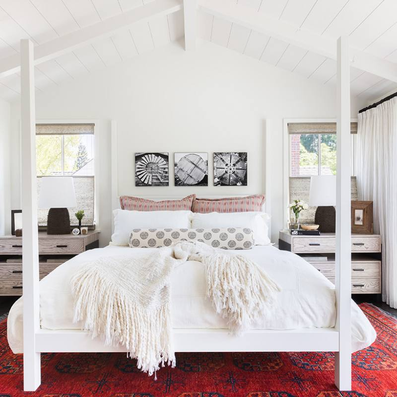 Bright modern farmhouse country style bedroomj robin
