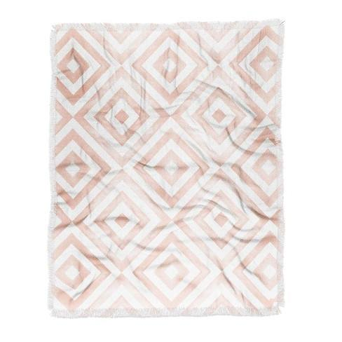 Little Arrow Diamonds Woven Throw Blanket Pink - Deny Designs