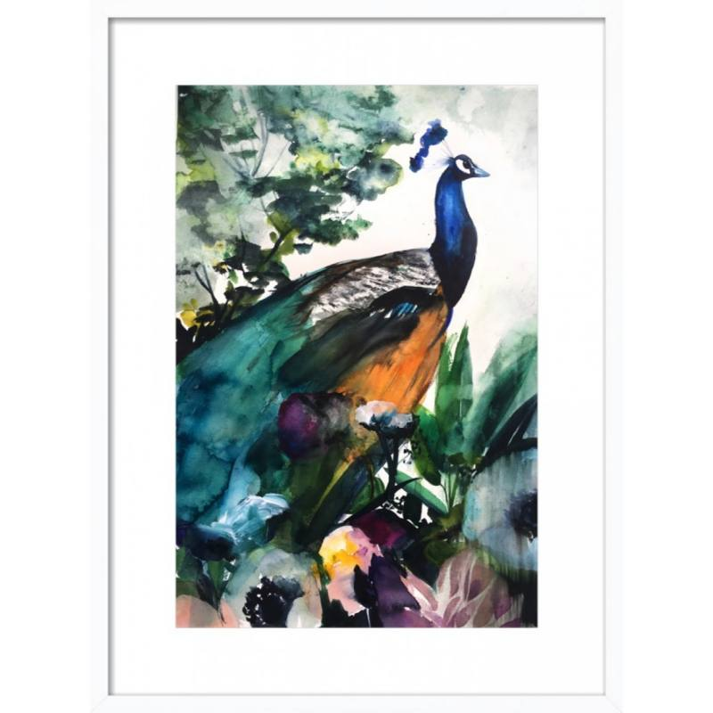 Peacock Garden by Christine Lindstrom for Artfully Walls