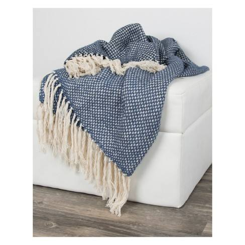 Cotton Cross Weave Throw - Rizzy Home