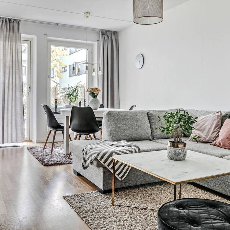 Modern Chic Scandinavian Living Room